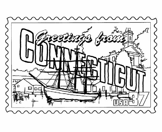 50 states coloring pages. USA Printables  Connecticut State Stamp US States Coloring Pages 92 best Capitals images on Pinterest 50 states