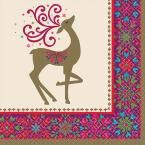 Winter Whimsy Deer 5 in. x 5 in. Paper Christmas Beverage Napkins (36-Count, 3-Pack)