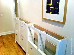 Ikea hemnes shoe cabinet hack