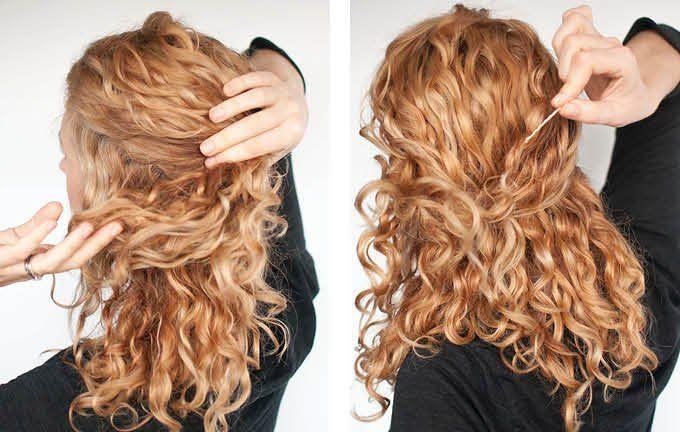 awesome Красивые прически на кудри (50 фото) — Укладки на средние и длинные волосы 2017 Читай больше http://avrorra.com/krasivye-pricheski-na-kudri-foto/