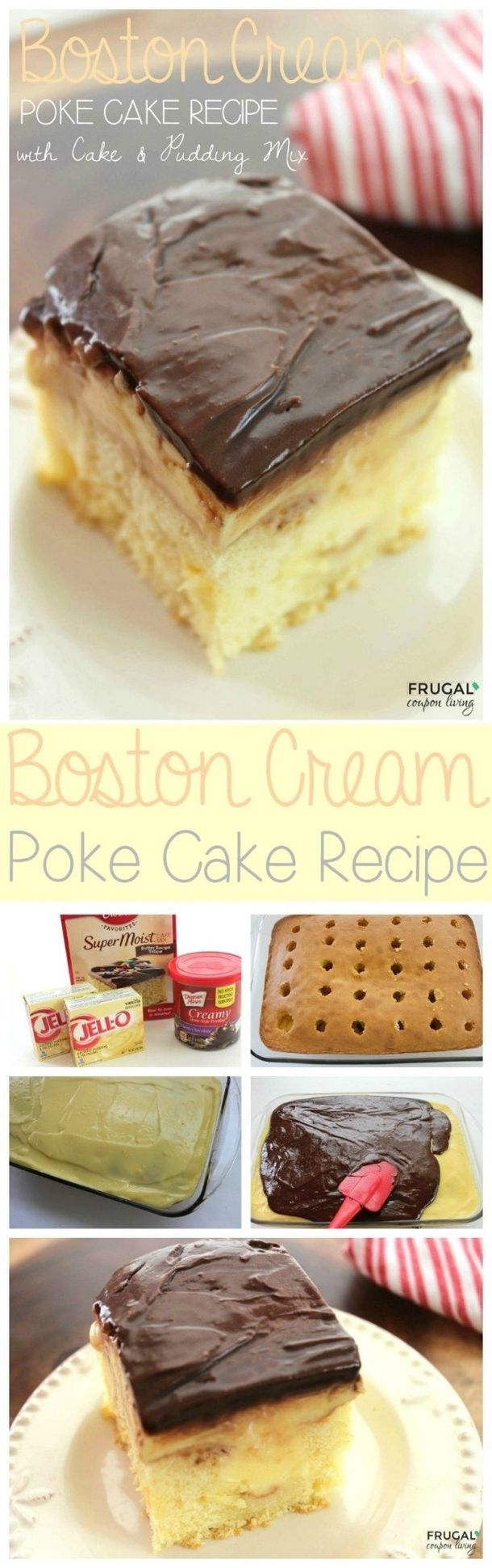 Poke cake allows you to mix and match some flavors to create some seriously amazing combinations, that your otherwise bland cake would never have had!