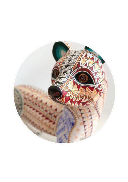 Mexican print for kids rooms -Ferret Alebrije