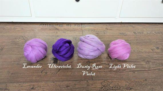 Ultraviolet Merino Wool Yarn Arm Knit Yarn Super Chunky