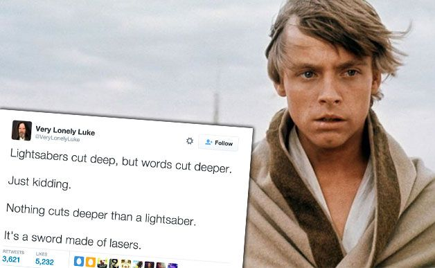 Someone Made A Hilarious 'Lonely Luke Skywalker' Twitter Account