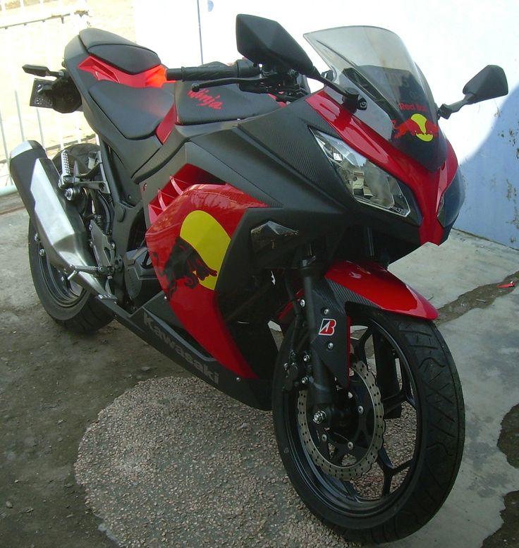 Kawasaki Ninja F Black Bull Carbon Striping Cutting - Stickers for motorcycles kawasaki