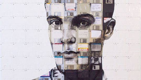 ECO ART: Nick Gentry's Expressive Floppy Disk Paintings
