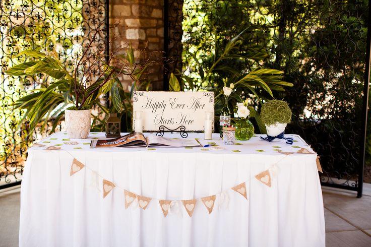 Guest book table | Our Pinterest Wedding | Pinterest | Guest book ...