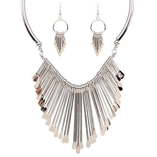 Susenstone Fringed Necklace Rhinestone Statement Bib Chain Choker Pendant Necklace Jewelry.More info for where can i buy anklets;silver anklets;gold anklet indian;designer #anklets online;anklet jewelry could be found at the image url.(This is an Amazon affiliate link and I receive a commission for the sales) #onlinejewelry #jewelryonline