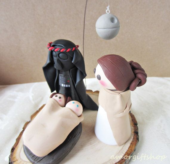 A unique nativity scene that all your friends and family will love.  It is made from polymer clay and wood. The main figures measure about 3 inches tall.     ****************************  Please, send me a message if you have special requirements of measures and color.