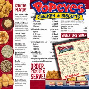 Popeyes Chicken Menu