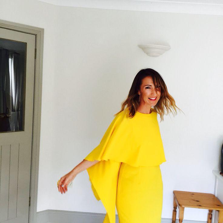 Mellow Yellow #CapeDress #Zara #WeddingStyle