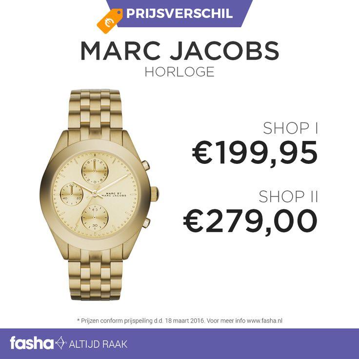Vind jij het ook zo vervelend om tijdens het shoppen alle webshops te vergelijken? Dit hoef je nu niet meer te doen! Fasha vindt dagelijks grote prijsverschillen tussen webshops die hetzelfde artikel aanbieden maar dan voor een andere prijs. De prijzen worden bij Fasha overzichtelijk weergegeven bij hetzelfde artikel. Zo zie jij meteen waar het product het goedkoopst is. Shop dit horloge nu voor de beste prijs via http://www.fasha.nl/pr…/marc-jacobs/horloge-mbm3393/20475145