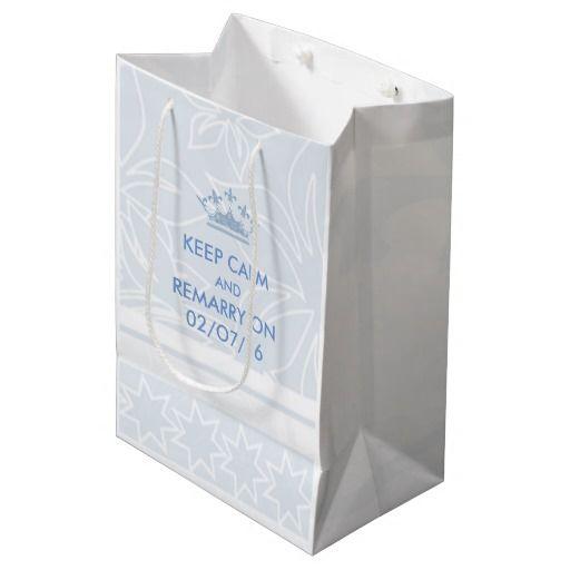 Wedding Vows Renewal Keep Calm Personalized Medium Gift Bag