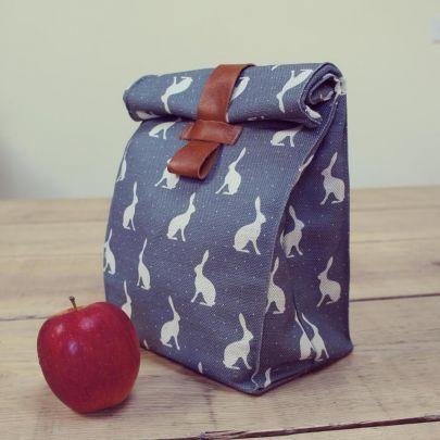 Blue bunny fabric - love it