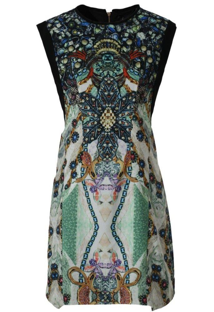 Jewel Print Sleeveless Dress