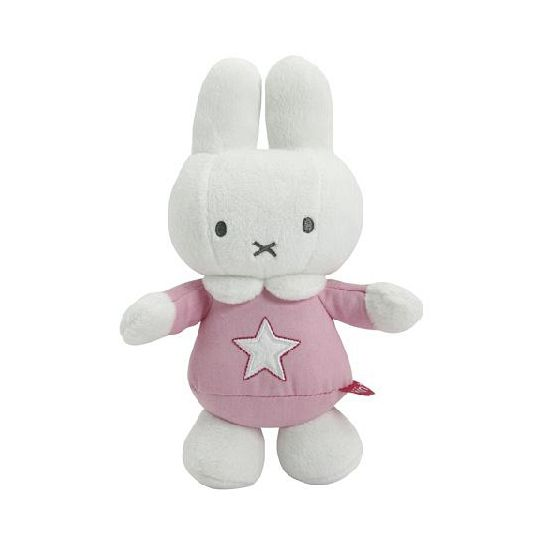 Pluche Nijntje knuffel roze 22 cm. Pluche Nijntje knuffel met een roze outfit aan. De knuffel heeft gestikte ogen en is daardoor geschikt voor kleine kinderen.