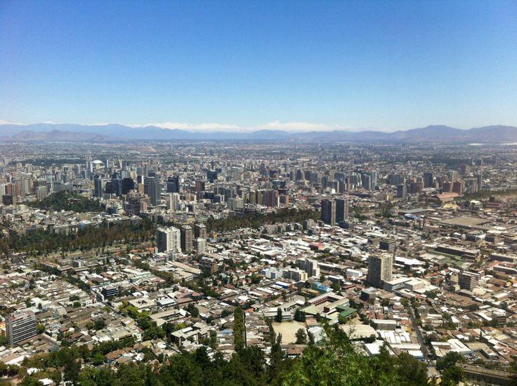 Cumbre Cerro San Cristóbal em Santiago de Chile, Metropolitana de Santiago de Chile