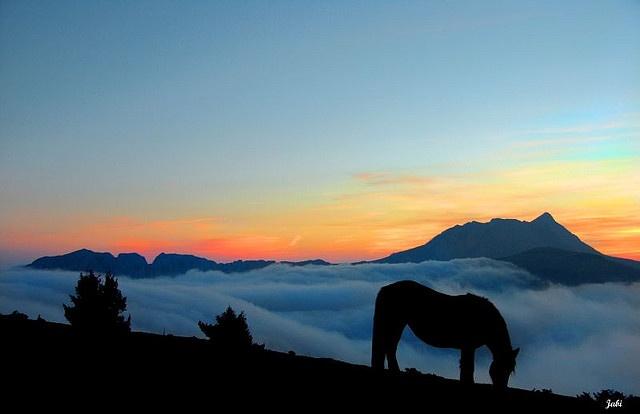 Amanecer en Saibi con Anboto al fondo by Jabi Artaraz, via Flickr