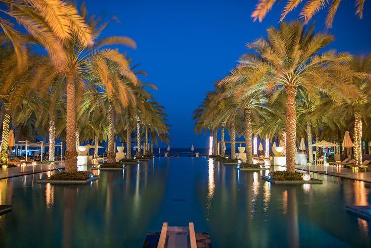 Al Bustan Palace Infinity Pool - The Infinity Pool beachside at the Al Bustan Ritz Carlton Palace in Muscat, Oman.   http://macmatt78.wixsite.com/mattmacdonaldphoto