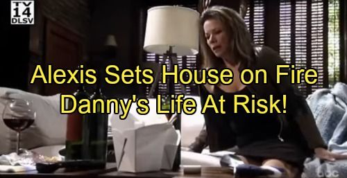 A new General Hospital (GH) spoilers video shows Alexis Davis (Nancy Grahn) has taken her boozing way too far and she puts a loved one's life at risk. Little