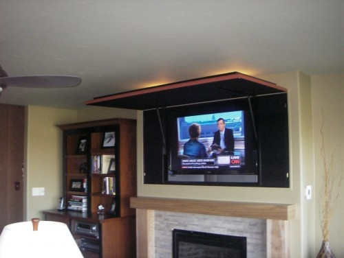hidden flat screen tv design pictures remodel decor and ideas beautiful artwork by day