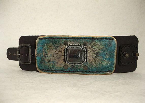 207 Steampunk Palimpsest Wabi Sabi Bracelet by ShabbyLuxury