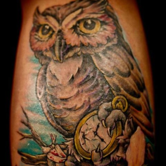 Owl tattoo on best ink by charlie the best tattos for The best tattoo ink