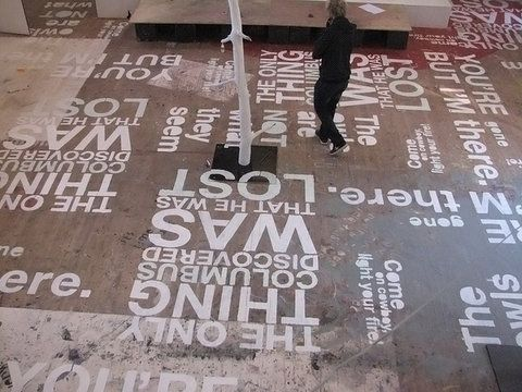creative office space typography | Typography Interior Design