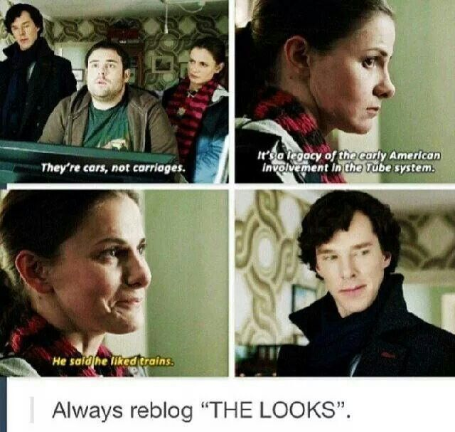 Sherlock and Molly Hooper. The Empty Hearse