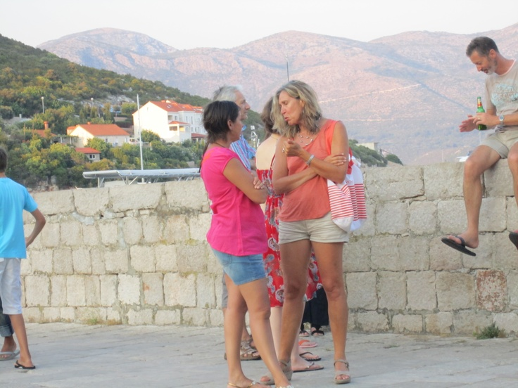 Sunsail Flotilla August 2012; Evelyn and Marco's mum chatting at the prize giving