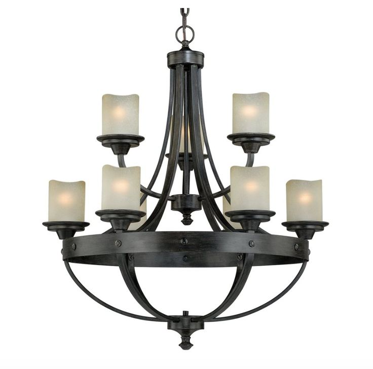 Vaxcel Lighting Halifax 9 Light Chandelier In Black Walnut Is Made By The Brand And A Member Of Collection