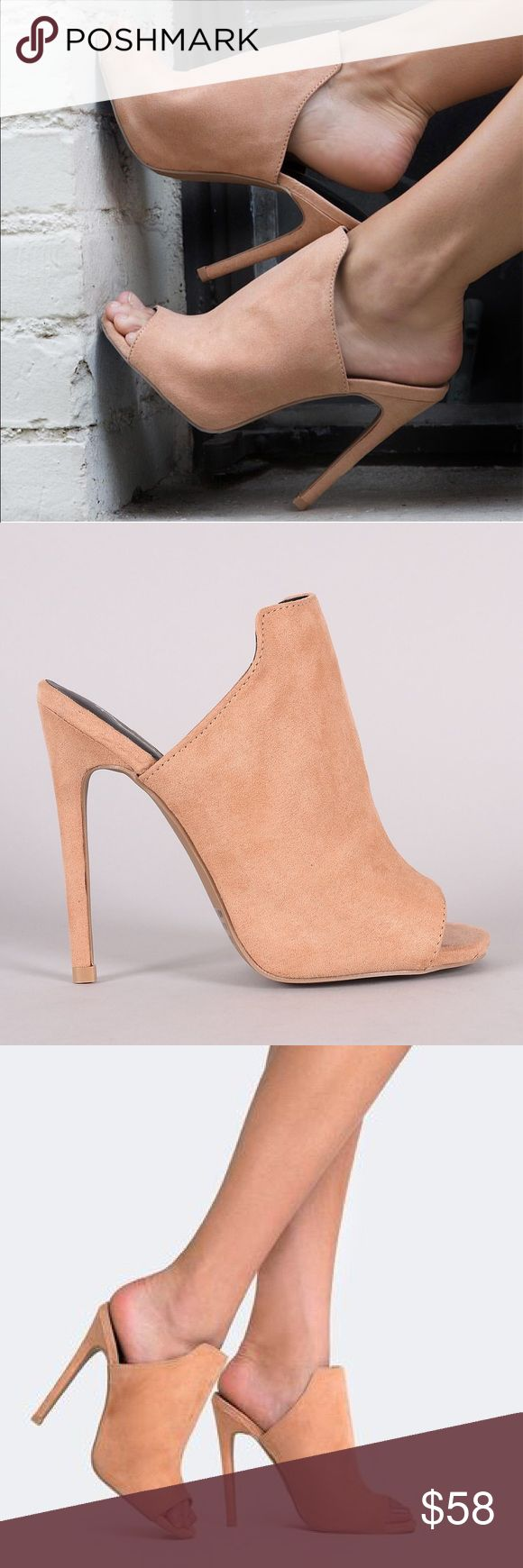 "Blush Stiletto Peep Toe Mule Heel LOOK CHIC AS EVER IN THESE MINIMAL SLIDE HEELS. THE SMOOTH SUEDE UPPER CREATES A SEAMLESS LOOK THAT BLENDS EFFORTLESSLY WITH BODYCON OUTFITS. TIE YOUR SILHOUETTE TOGETHER WITH A PEEP TOE AND KILLER THIN HEEL. BLUSH COLOR MATERIAL: SUEDE LEATHERETTE MEASUREMENT: HEEL HEIGHT: 4 1/2"" (APPROX) FITTING: TRUE TO SIZE Boutique Shoes Mules & Clogs"