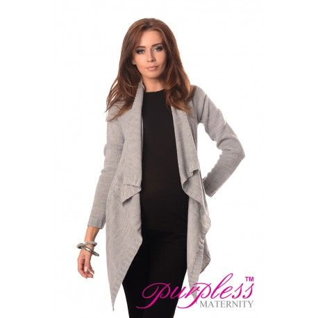 2in1 Maternity and Nursing Cascade Open Front Cardigan 9003 Light Grey  Every maternity wardrobe needs a cardigan. Our 2in1 maternity and nursing long sleeve cascade open front cardigan will add a level of comfort when you feel the need to wrap up.
