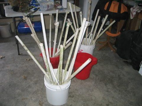 Pvc crappie beds for shallow photo by talltiger2 fishing for Pvc fish attractors