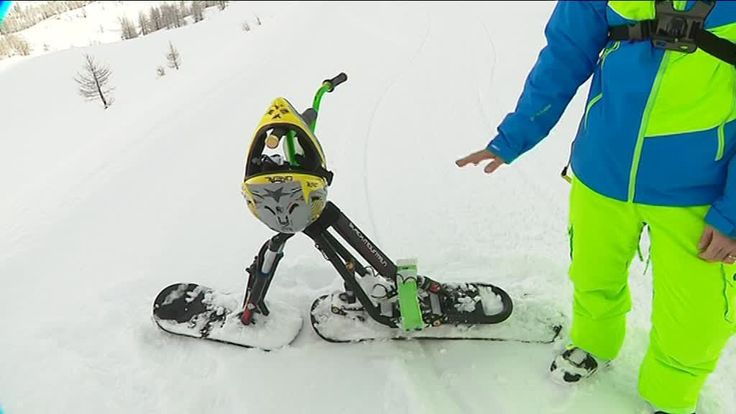 Le snowscoot est unmélange de vélo tout terrain et de snowboard. Une épreuve du championnat d'Europe a eu lieu à Isola 2000 le 27 janvier, l'occasion de découvrir cette pratique qui a presque 30 ans...