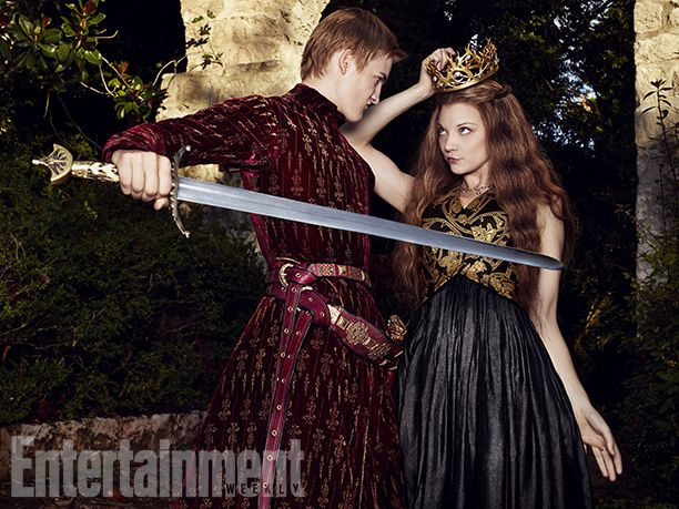 Jack Gleeson as Joffrey I Baratheon and Natalie Dormer as Margaery Tyrell