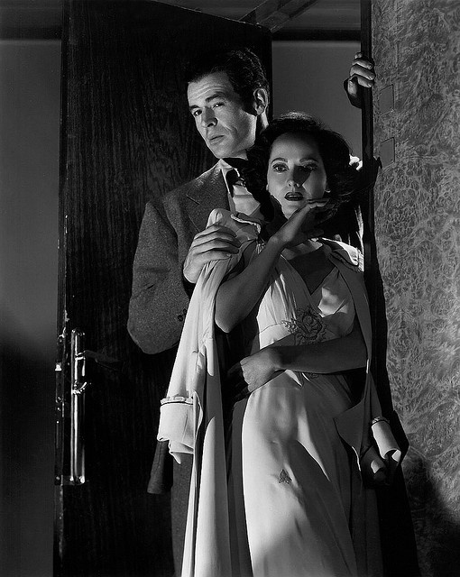 Robert Ryan and Merle Oberon - Berlin Express 1948 by TikiLizzy, via Flickr
