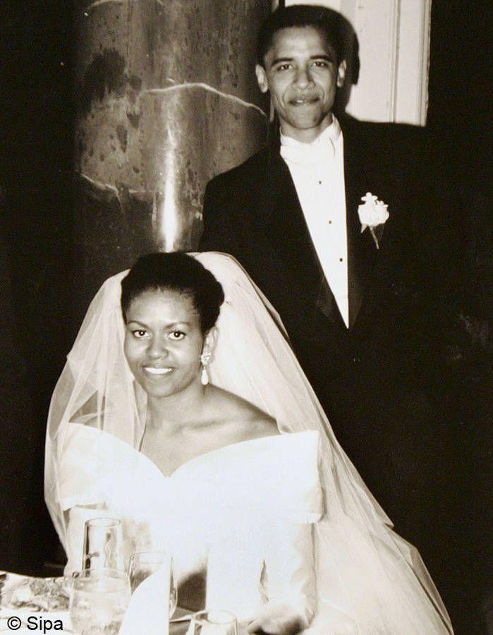 le mariage de Barack et Michelle Obama                                                                                                                                                     Plus