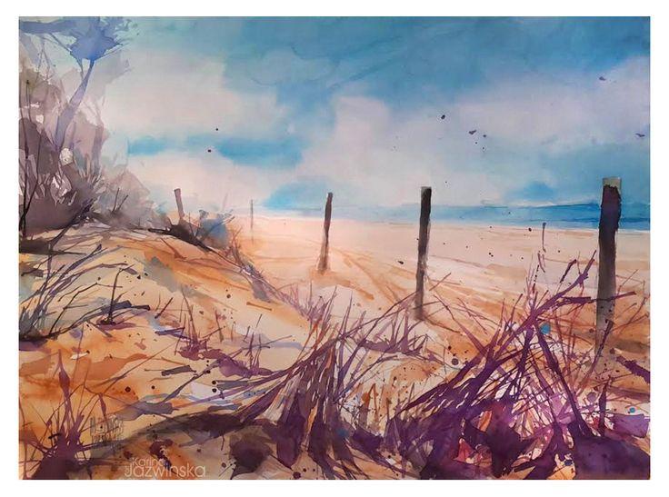 Dunes/ Watercolor/ format 73x54 cm/ paper: Saunders 300g
