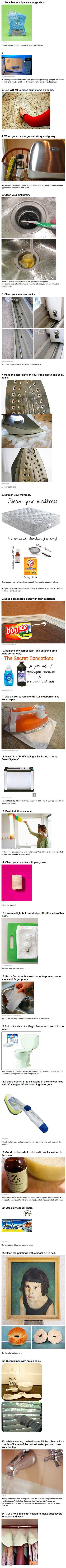 Here are some extremely useful cleaning life hacks to help geeks get organized this weekend.: