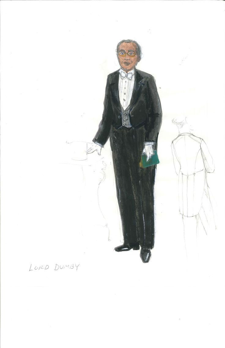 Lord Dumby's Act 2 costume, sketched by designer Meg Neville