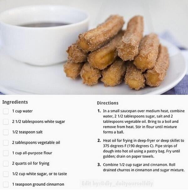 Homemade churoes