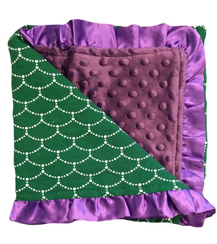 Minky Blanket with Mermaid Design