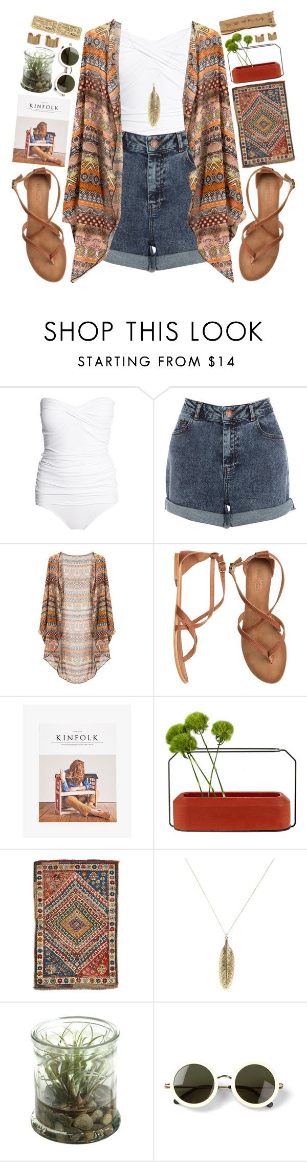 """""""Let Me Be Your Coffee Pot"""" by theonlynewgirl ❤ liked on Polyvore featuring moda, Melissa Odabash, Warehouse, Matisse, Spécimen Editions, ASOS, The Row y Maison Margiela"""
