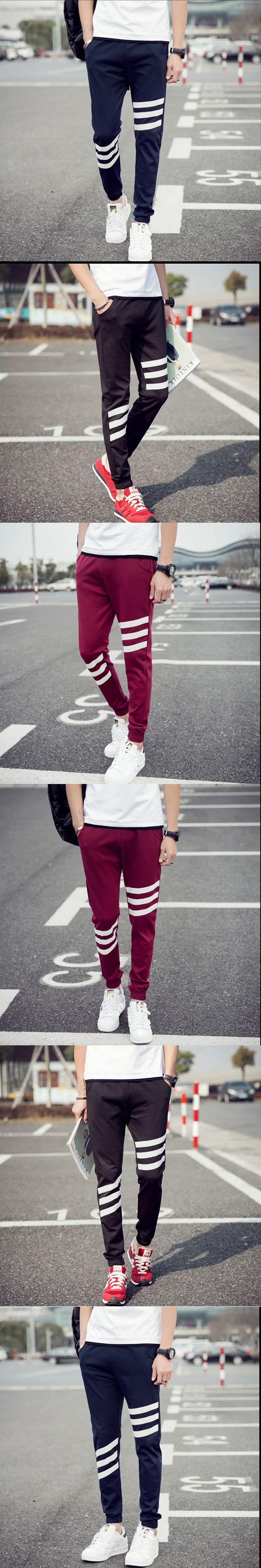 Korea Style Casual Loose Sweatpants Straight Workout Cloth Sporting Active Cotton Pants Men Jogger Pants Sweatpants