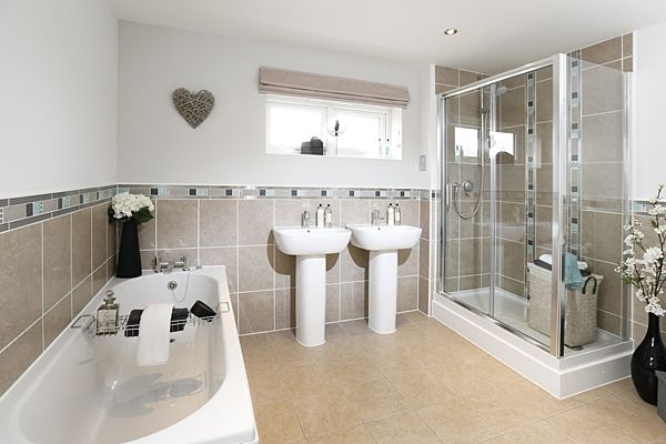 Gladstone Place From Barratt Homes Massive Bathroom With His And Her Sinks From Http Www