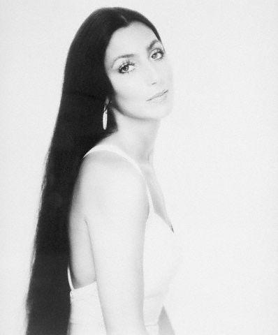 Cher Bono Waist-Up W/Long Hair