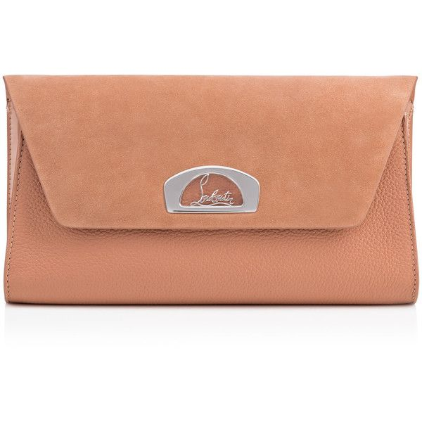 Christian Louboutin Vero Dodat Clutch ($1,200) ❤ liked on Polyvore featuring bags, handbags, clutches, nude, leather purses, summer handbags, nude clutches, leather handbags and envelope clutch bag