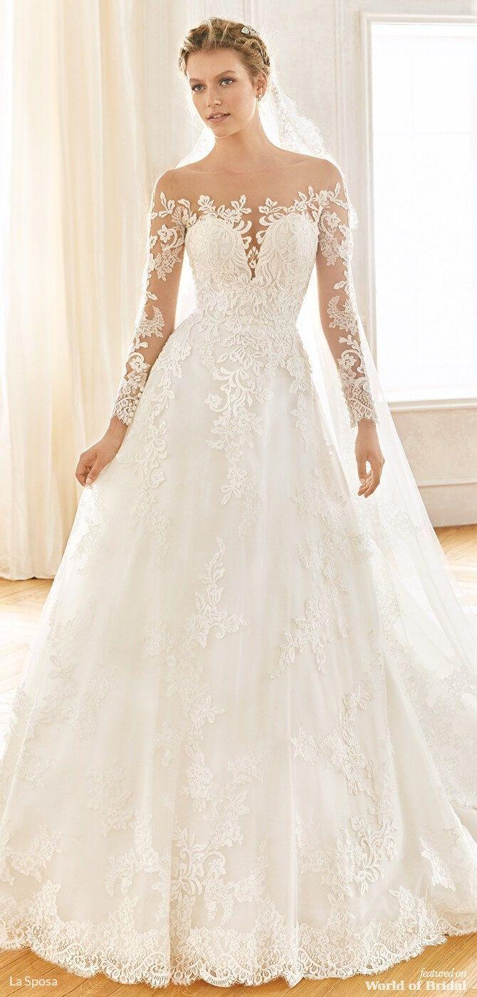 La Sposa 2019 Wedding Dresses Wedding Dress Necklines Illusion Neckline Wedding Dress Wedding Dresses Romantic