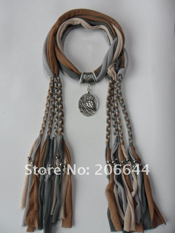 Scarf and necklace out of cotton fabric t-shirts?